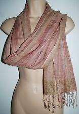 Nouveau coton tissé & lurex châle foulard-Hippy assez négociés Inde ethnique