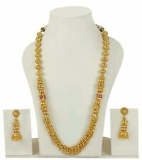 2233 Indian Bollywood Style Fashion Gold Plated Pearl Mala Necklace Jewelry