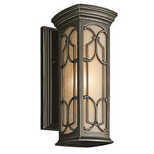 Kichler 49226OZ Franceasi 9.4 Watts Light Outdoor LED Wall Lantern Wall Sconce