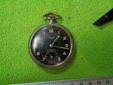 KIENZLE MILITARY BLACK DIAL POCKET WATCH WORKING GERMANY