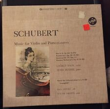 PAUK & FRANKL Schubert Music for Violin & Piano Complete 3 LP Record NEW Sealed