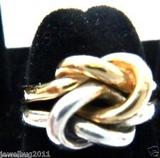 REDUCED! James Avery 14kt/.925 Original Lover's Knot Ring 2 Tone Gold/Silver
