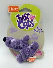 Cat Toy by Hartz Purple Ball Mouse Pet Play New  4 Inch