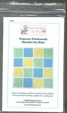 POPCORN PATCHWORK BLANKIE FOR BOYS CROCHET PATTERN BY CRAFT DESIGNS FOR YOU 2012