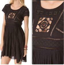 NEW✿ Free People MINI DRESS S TUNIC Shirt Top Clubwear Black