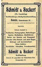 Schmidt & Suckert (Th.Fuendeling) Hameln BUCHHANDLUNG Historische Reklame v.1907