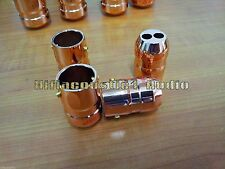 4Pcs MC Copper Alloy Speaker Audio Cable Wire Pants Boots Y splitter Pant 1 TO 2