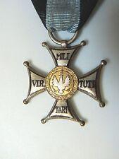 #1693 ANDRZEJ PIETRZAK, POLAND ORDER VIRTUTI MILITARI,Type I, awarded in 1921