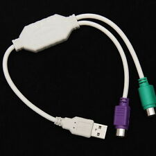 USB Male to PS2 Female Cable Adapter Converter Use For Keyboard Mouse UF