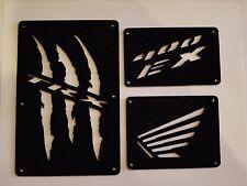 Honda TRX 400 EX 400EX 400X 400 X Fender Warning Tags Black /NO decal