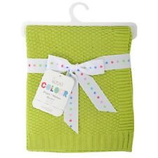 Silvercloud Lime Green 100% Soft Cotton Baby/babys Cot blanket/Wrap Boys/Girls