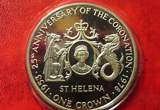 St.Helena 1978 Large Silver Proof Crown Queen Jubilee