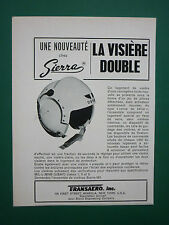 11/1965 PUB SIERRA ENGINEERING CASQUE AVIATION HELMET VISIERE DOUBLE ORIGINAL AD