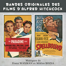 CD The Paradine Case and Spellbound Bandes Originales des Films Alfred Hitchcock