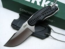 COLUMBIA RIVER CRKT Straight Fixed Blade CIVET BOWIE Neck Knife + Sheath! 2805