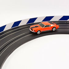 NEW AFX Slot Car Guard Rail Set - Blue & White FITS: Carrera, Model Motoring