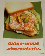 """Fiche Recette de CUISINE Pain JACQUET : Pique-Nique """"Charcuterie"""" - Vintage"""