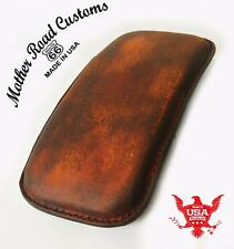 201 Brown Distressed Leather Seat P-Pad Chopper Harlery Bobber Sportster Custom