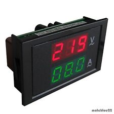 AC 80~300V 100A Digital DUAL LED Volt Amp Combo Panel Meter+Current Transformer