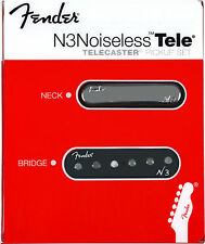 New Fender N3 Noiseless Tele Pickup Set of 2 Telecaster USA +Many Gifts Warranty