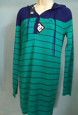 DC Shoes Medium LONG Dress HOODIE Hooded Top NEW blue green skateboard surf M
