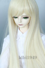 "1/4 7-8"" Bjd Wig Dal BJD SD MSD DOD DD Dollfie Doll Long Blonde wigs A12"
