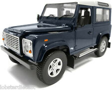 LAND Rover Defender 90 td5 in Blu Baltico modello IN SCALA 1/18 UNIVERSAL HOBBIES