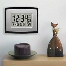 Digital Wall Clock / Alarm Clock WIth Day Date And Temperature Display