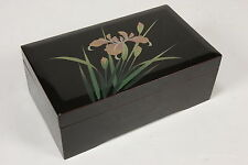 San Francisco Music Box Co. Vtg Black Lacquer Jewelry Holder Case Plays 'Memory'