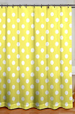 "CHIC SHABBY COTTAGE STYLE YELLOW POLKA DOT FABRIC SHOWER CURTAIN 72"" X 72"" NWT"