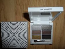MAC 6 SNOWGLOBE EYE SHADOWS / WARM PALETTE + BRUSH 213SE ICE PARADE COLL NIB 6g