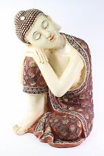 "Feng Shui 14"" Large Aged Red Resting Meditating Buddha Figurine Peace Statues"