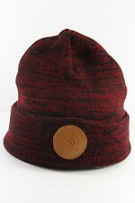 UNISEX BURGUNDY/ BLACK WINTER INSPIRED THICK HAT WITH TAN AZTEC LOGO (HT20)