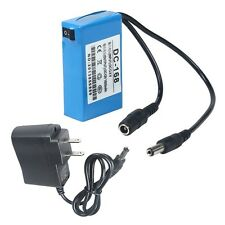 Mini DC-168 12V Rechargeable Li-ion Battery Pack for CCTV Camera Home Portable