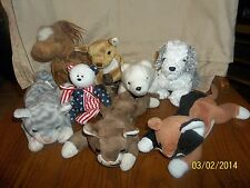 TY Beanie Babies Lot of 8 Fridge Hoofer Silver Chip Pounce More