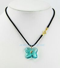 BACCARAT JEWELRY HORTENSIA TURQUOISE 18K SOLID GOLD CHOKER PENDANT NECKLACE NEW