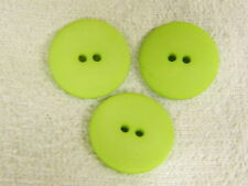 25 NEW 1 INCH DULL FINISH  LIME GREEN  BUTTONS