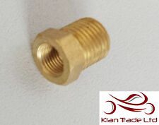 "1/8"" Female to 1/4"" Male BSP Thread Reducer Hex Bushing Pipe Fitting - BRASS"