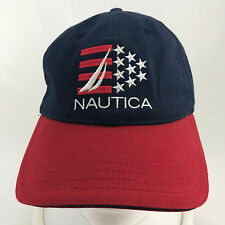Nautica Red White Blue Adjustable Baseball Hat Cap One Size Fits All