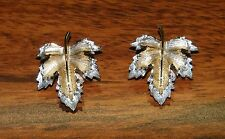 Sarah Coventry Gold Toned Pair of Fall Leaves Clip On Earrings! (One Pair)