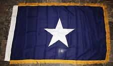 3x5 Embroidered Sewn Bonnie Blue Synthetic Gold Fringe Cotton Flag Sleeve 3'x5'