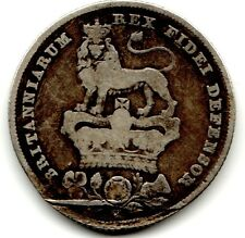 1826 12d 1s Silver ONE SHILLING twelve pence King George IV (b)