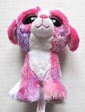"Ty Beanie Boo Sherbet Plush Dog Pink Lavender & White Glitter Eyes 6"""