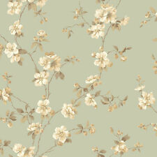 Apple Blossoms Seafoam Wallpaper Double Roll Bolts FREE SHIPPING