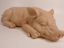 "14"" PIGGY SLEEPING PIG STATUE DESIGN TOSCANO Garden Lawn Ornament Indoor Outdoor"