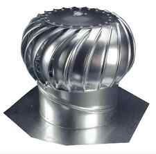 Attic 12 in Wind Turbine Roof Vent Exhaust Durable Galvanized Steel Ventilator