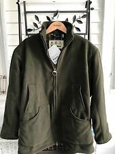 NEW NWT BARBOUR DUNMOOR FLEECE WINDSTOP HUNTING JACKET UK MEDIUM OLIVE GREEN