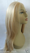 "New Premium Quality Straight Blonde Synthetic Lace Front Full Wig 22"" - 23"" Wigs"