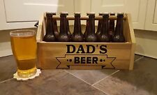 Personalised Wooden BEER/CIDER/WINE/ALE CRATE/HAMPER / Fathers Day Gift idea