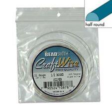 Half Round 21Ga Non-Tarnish Silver Plate Wire 4yd 41569